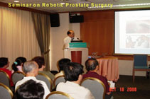 Dr Chin Speaking at Seminar on Robotic Prostate Surgery
